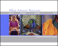 Web design client - Blue Moon Bazaar