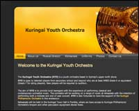 Web design client - Kuringai Youth Orchestra